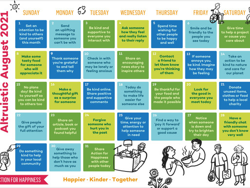 Action for Happiness - Altruistic August 2021