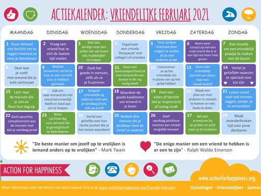 Action for Happiness - Vriendelijke Februari 2021