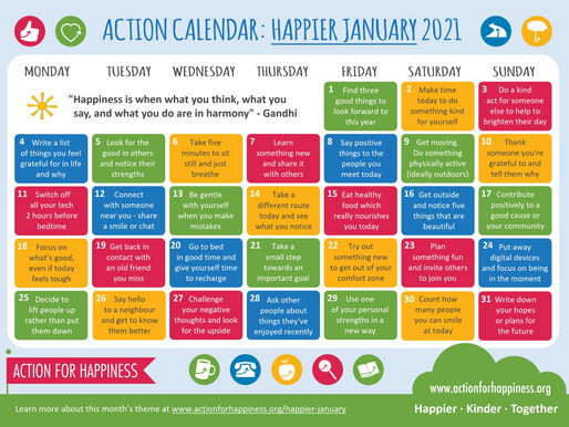 Action for Happiness - Happier January 2021
