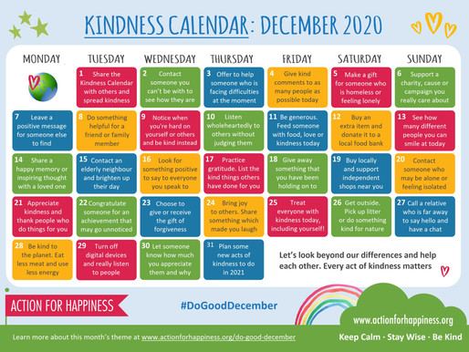 Action for Happiness - Do Good December 2020