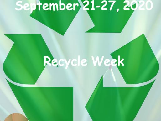 Semaine du Recyclage 2020 - Liste de contrôle: Comment recycler à la maison