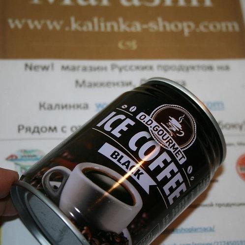 Черный холодный кофе