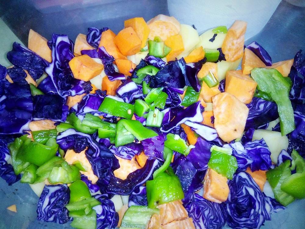 овощи в казанке