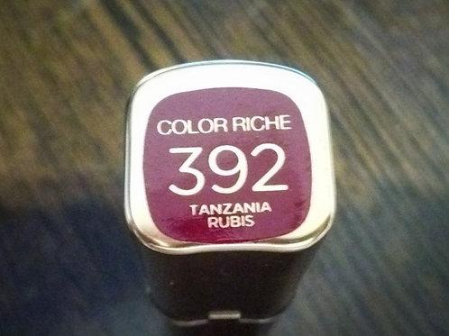 помада Лореаль цвет танзания рубис 392