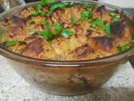 Картошечка и маринованное мясо, необычный рецепт