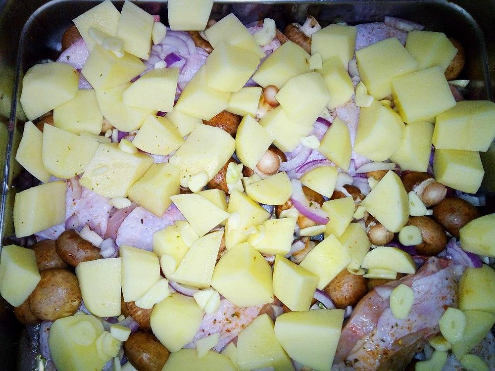 с картошкой