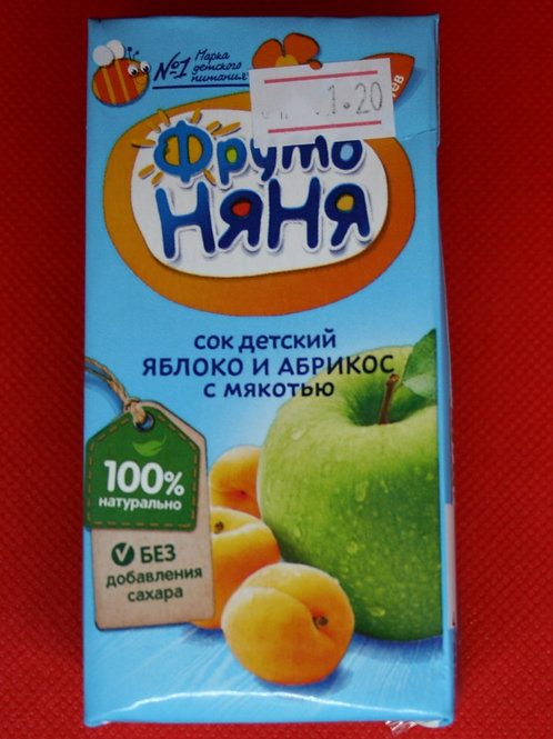 Сок яблочно-абрикосовый с мякотью