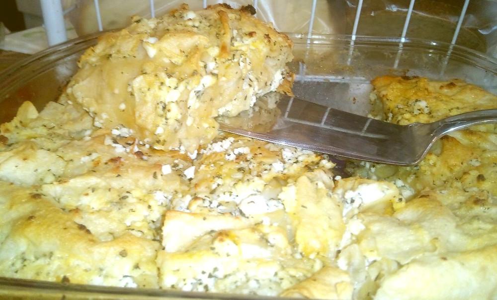 сырный пирог в разрезе