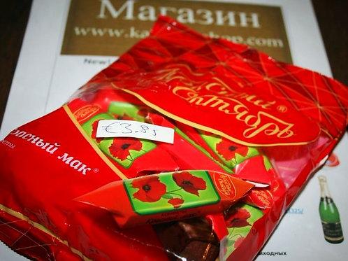 конфеты красный мак