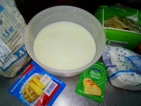 Тесто на домашней пахте