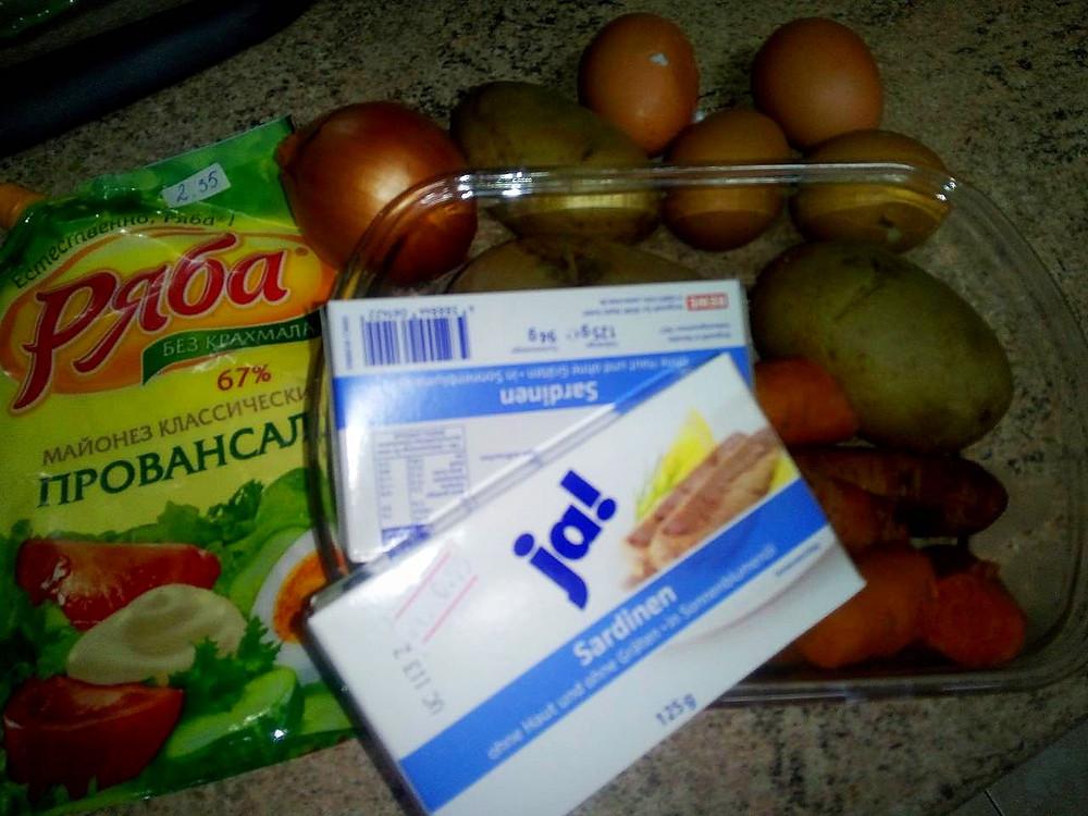 салат мимоза, ингридиенты