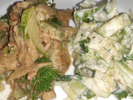 Турецкий закусон из кабачков