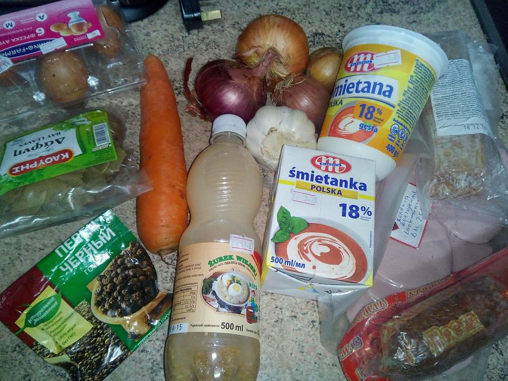 ингредиенты на суп журек