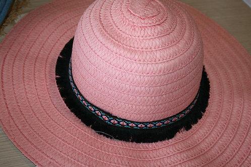 Шляпа розовая, женская