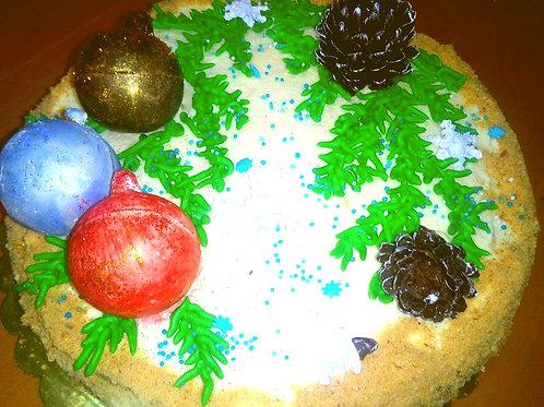 Новогодний авторский торт