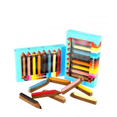 Boîte de crayons en chocolat belge / Box of Belgian chocolate pencils