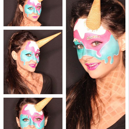 pictures by let's Make-up #eatable #popart #icecream #makeup #makeupartist #makeupbyme #undiscover