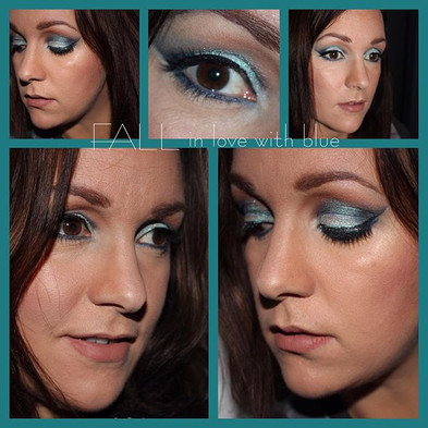 FALL in love with blue #makeupgeek #makeupaddict #beautybakeriemakeup