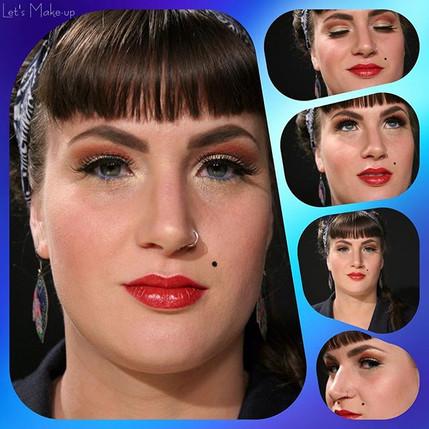 #1950s #pinup #makeup #makeupgeek #beautybakerie #lovemyjob❤️ 💋