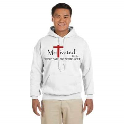 White MoTivated 50/50 Hoodie