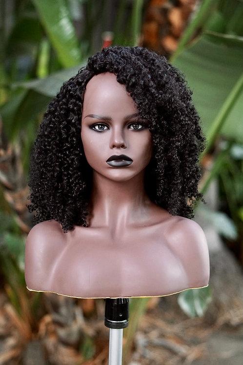 Kinky Curly 3c-4a Half Wig