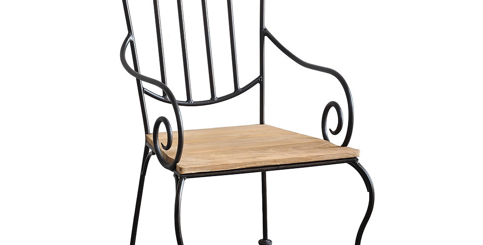 OLT023 - Villa Reclaimed Teak Dining Chair With Arms