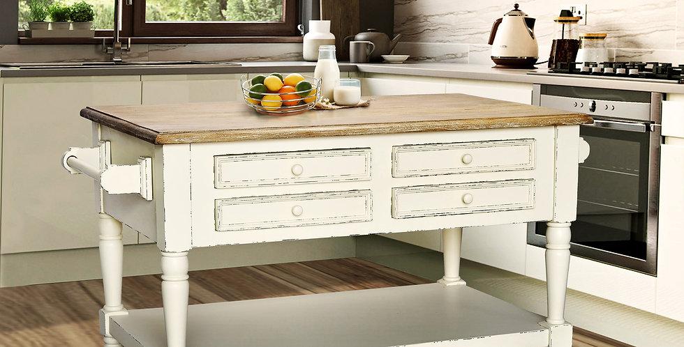 MAH339 - Shannon Small Kitchen Island (8 drawers)