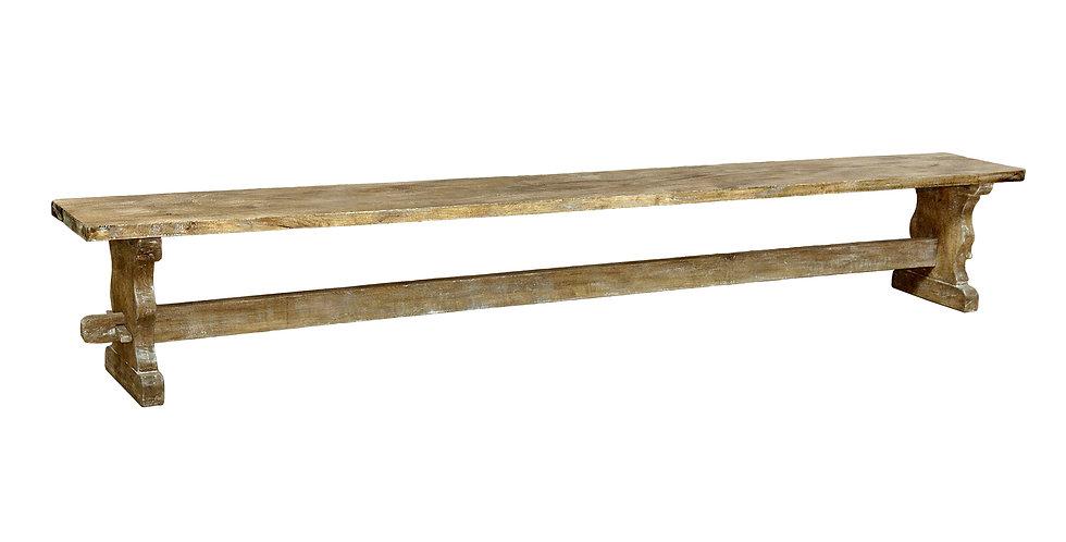"MAH454 - Santa Fe Rustic Trestle Dining Bench for 120"" table"