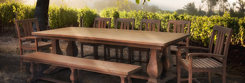 OLT114 - Capri Reclaimed Teak Balustrade Dining Table