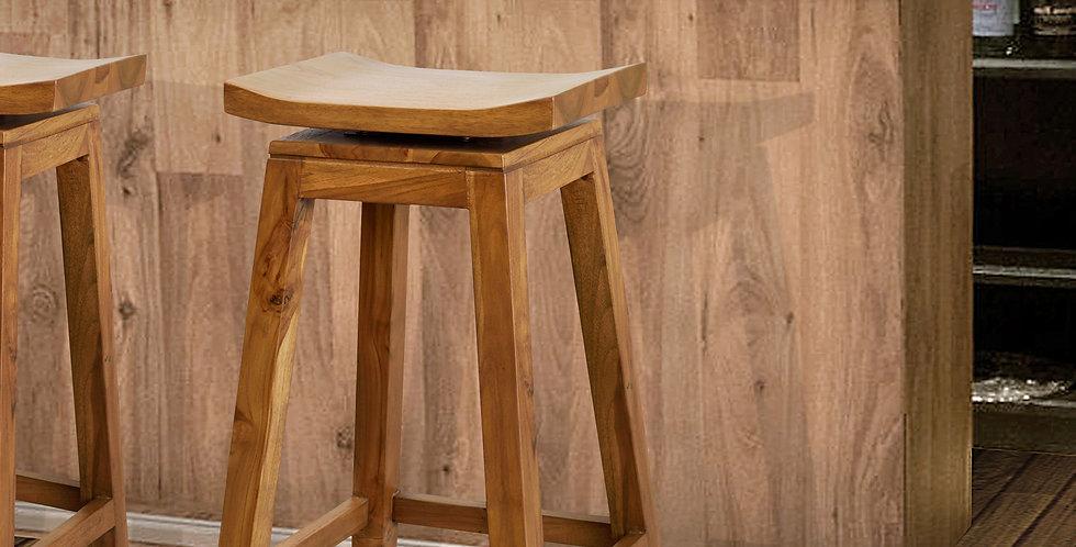 OTT135 - Teak Wooden Swivel Stool