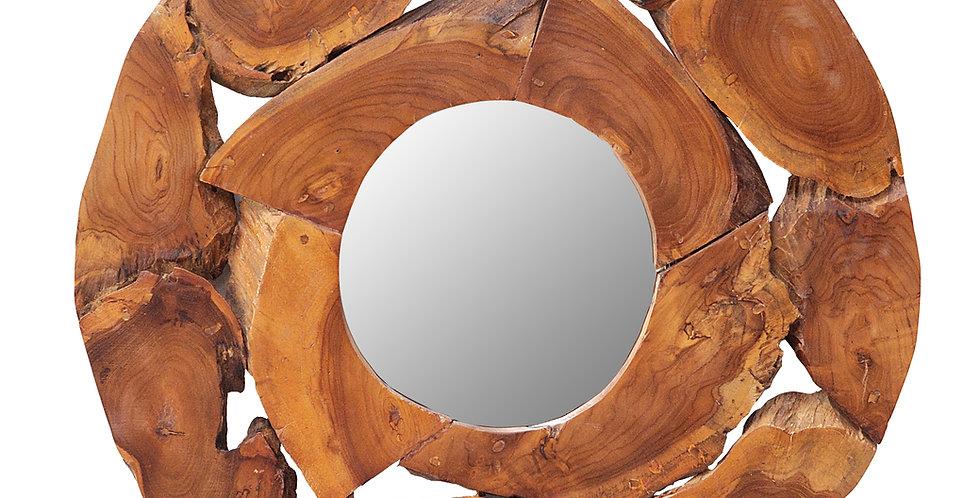 SEN072 - Teak Root Wall Art with mirror