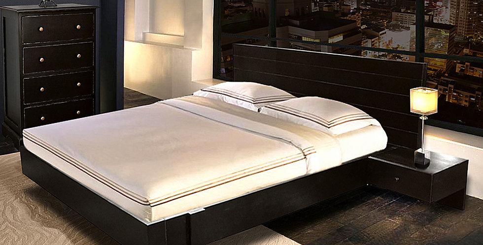 MAH486 - Platform Bed W. Built-in Nightstands