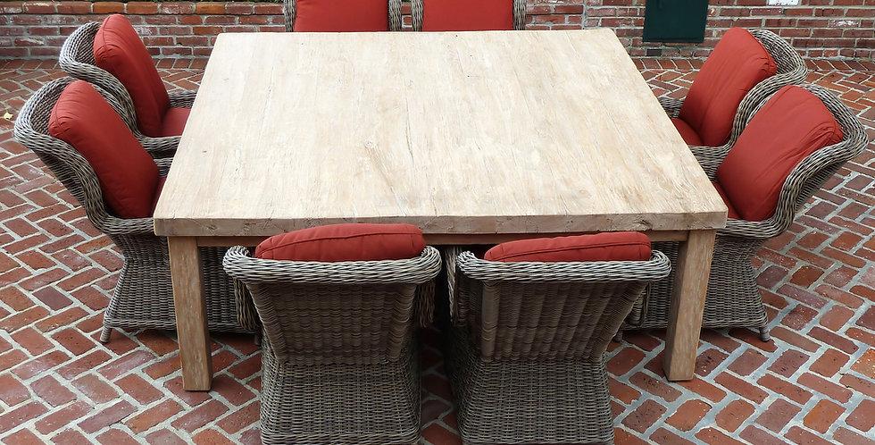 "OLT116 - Tahoe Reclaimed Teak Dining Table 80"" Square"