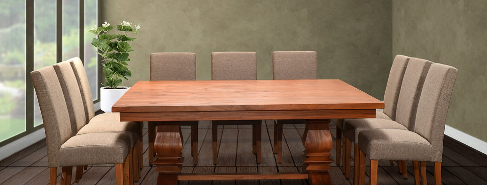 MAH525 - Santa Fe Square Balustrade Dining Table (6ft. x 6 ft)