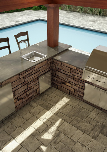 Kindred_Outdoor Kitchen_Line Drawing_Sie