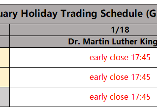 January Holiday Trading Schedule
