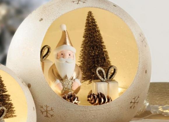 Boule  led avec père Noël  - M
