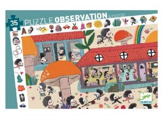 puzzle d'observationl'école des hérissons-Djeco