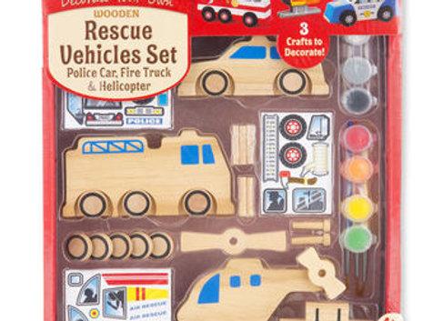 Kit véhicules de secours à construire et à décorer