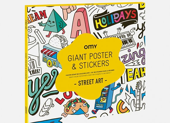 STREET-ART Poster géant & tickets-OMY