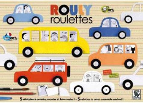 MITIK -     Maquette enfant - Rouly Roulettes - Kit Créatif