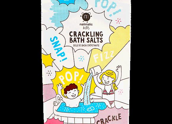 Sels de bain crépitants bleus