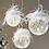 Thumbnail: Boule suspendue en verre plumage led - (985)