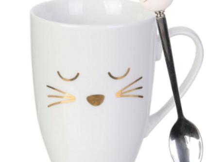 Mug Avec Cuillere Chat