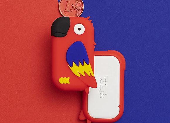 Walky perroquet rouge