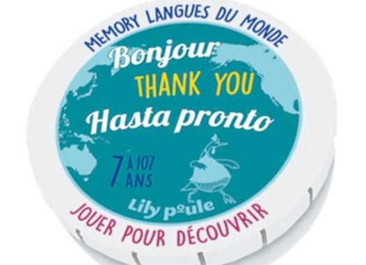 Memory  langues du Monde - Lily Poule