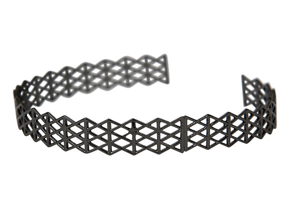 Bracelet Emma,  metal noir
