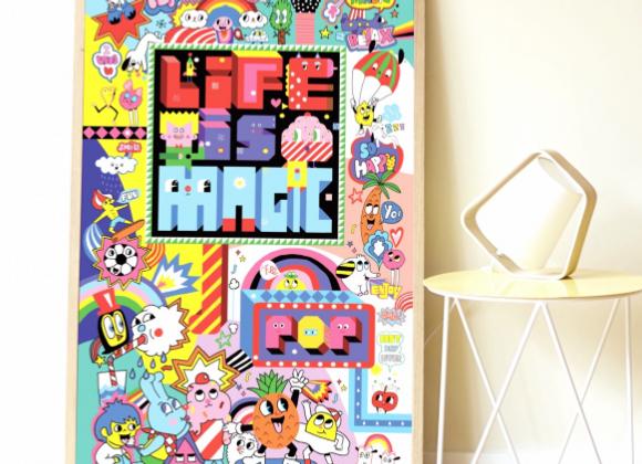 POPPIK - Poster géant + 1600 stikers Street Art