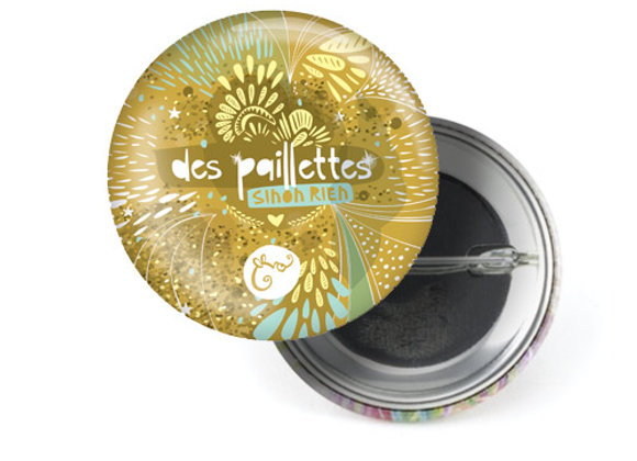 "Badge ""Paillettes"""