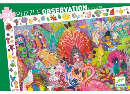 puzzle observation Carnaval de Rio - Djeco